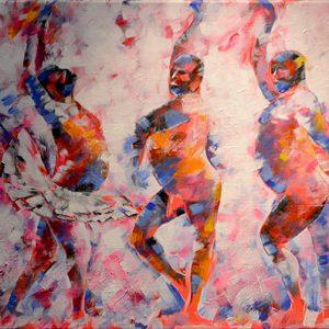 Gala Dancers (Dancing Men) by Dimitrie Ross. Ross Fine Art