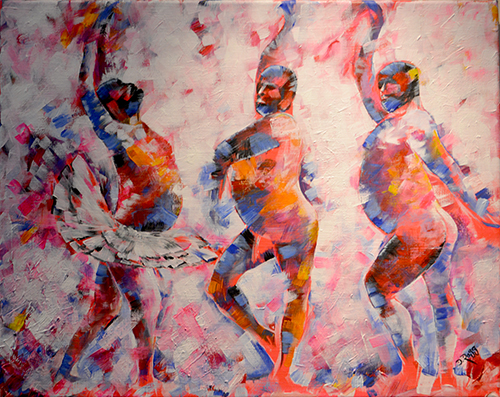 Gala Dancers (Dancing Men) by Dimitrie Ross. Ross Fine Art