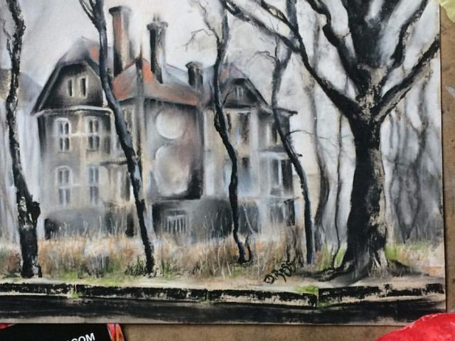 Lost House On Duke-Albrecht-Alley – My Baltic Backyard. Charcoal - Dimitrie Ross