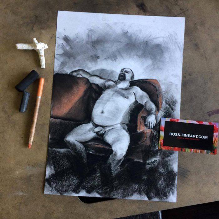 Figures. Men – Figure #6. Charcoal – Dimitrie Ross