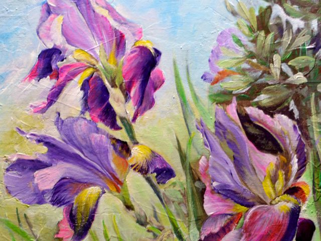 Irises of Boscarelli – Painting by Dimitrie Ross