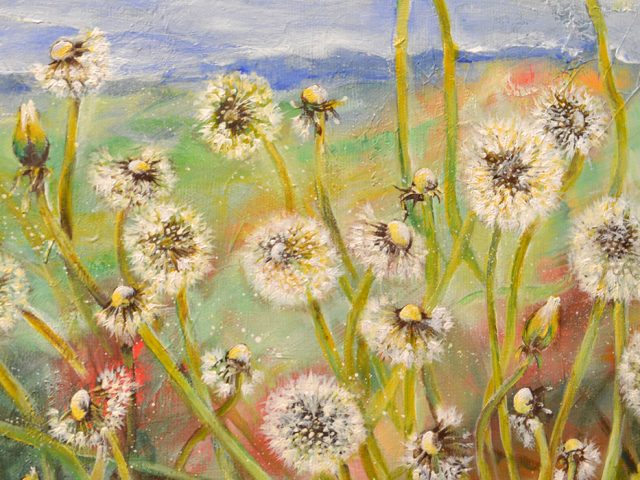 Dandelions - Painting by Dimitrie Ross