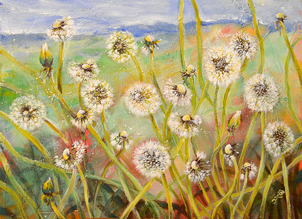 Dandelions - Painting be Dimitrie Ross