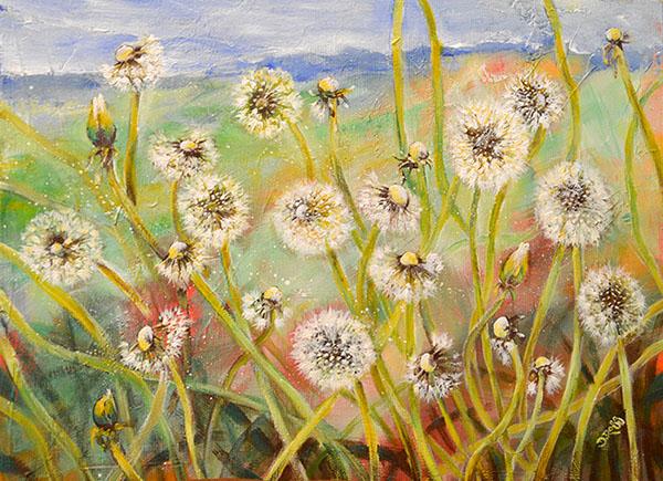 Dandelions - Painting be Dimitrie Ross