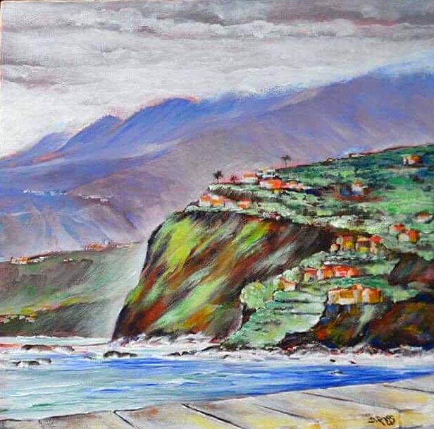 San Juan Rambla, Tenerife – Painting by Dimitrie Ross